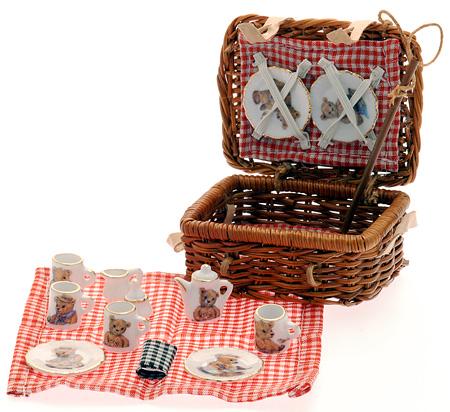Picknickkorb Teddydekor